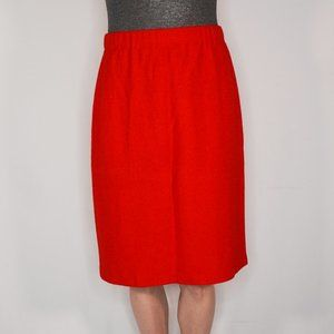 ST. JOHN COLLECTION Red Knit Classic Skirt